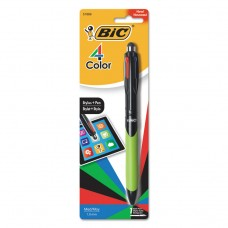 4-Color Stylus Ball Pen, Assorted