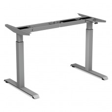 """2-Stage Electric Adjustable Table Base, 27 1/2"""" To 47 1/4"""" High, Gray"""