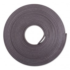 """Adhesive-Backed Magnetic Tape, Black, 1/2"""" X 10ft, Roll"""