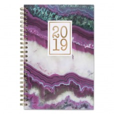 AGATE WEEKLY/MONTHLY PLANNERS, 4 7/8 X 8, PURPLE, 2019