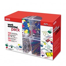 350 PAPER CLIPS, 150 PUSH PINS, 80 BUTTERFLY CLIPS, 45 BINDER CLIPS, ASSORTED