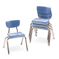 """3000 Series Classroom Chairs, 12"""" Seat Height, Blueberry, 4/carton"""