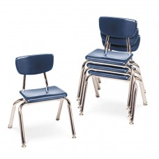 """3000 Series Classroom Chairs, 12"""" Seat Height, Navy, 4/carton"""