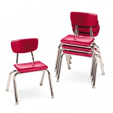 """3000 Series Classroom Chairs, 12"""" Seat Height, Red, 4/carton"""