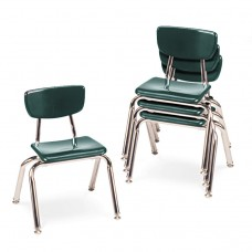 """3000 Series Classroom Chairs, 12"""" Seat Height, Forest Green, 4/carton"""