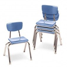 """3000 Series Classroom Chairs, 14"""" Seat Height, Blueberry, 4/carton"""