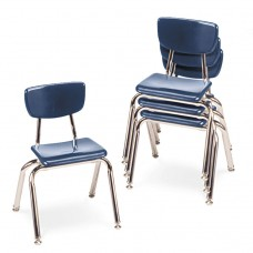 """3000 Series Classroom Chairs, 14"""" Seat Height, Navy, 4/carton"""