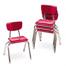 """3000 Series Classroom Chairs, 14"""" Seat Height, Red, 4/carton"""