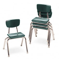 """3000 Series Classroom Chairs, 14"""" Seat Height, Forest Green, 4/carton"""