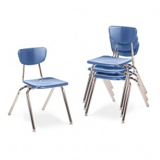 """3000 Series Classroom Chairs, 16"""" Seat Height, Blueberry, 4/carton"""
