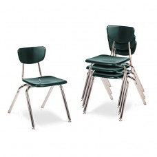 """3000 Series Classroom Chairs, 16"""" Seat Height, Forest Green, 4/carton"""