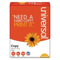 Copy Paper, 92 Brightness, 20lb, 8-1/2 X 11, White, 5000 Sheets/carton