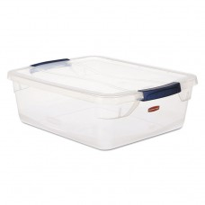 Clever Store Snap-Lid Container, 18 3/4 X 23 3/4 X 12 3/8, 71 Qt, Clear, 4/ct