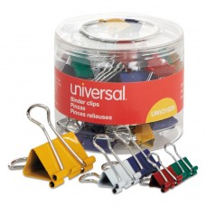 Assorted Binder Clips, Mini/small/medium, Assorted Colors, 30/pack