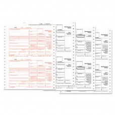 1099-Misc Tax Forms, 4-Part Carbonless, 8 1/2 X 5 1/2, 600 1099s & 10 1096s
