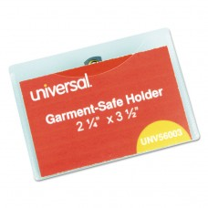 Clear Badge Holders W/garment-Safe Clips, 2 1/4 X 3 1/2, White Inserts, 50/box