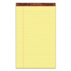 """""""THE LEGAL PAD"""" RULED PADS, LEGAL/WIDE, 8 1/2 X 14, CANARY, 50 SHEETS, DOZEN"""