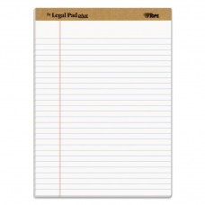 """""""THE LEGAL PAD"""" RULED PADS, LEGAL/WIDE, 8 1/2 X 11 3/4, WHITE, 50 SHEETS, DOZEN"""