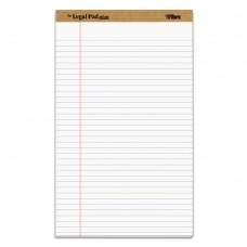 """""""THE LEGAL PAD"""" RULED PADS, LEGAL/WIDE, 8 1/2 X 14, WHITE, 50 SHEETS"""