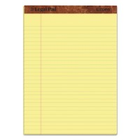 """THE LEGAL PAD"" RULED PADS, LEGAL/WIDE, 8 1/2 X 11, CANARY, 50 SHEETS, 3/PACK"