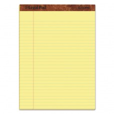 """""""THE LEGAL PAD"""" RULED PADS, LEGAL/WIDE, 8 1/2 X 11, CANARY, 50 SHEETS, 3/PACK"""