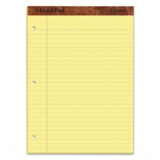 """""""THE LEGAL PAD"""" RULED PADS, LEGAL/WIDE, 11 3/4 X 8 1/2, CANARY, 50 SHEETS, DOZEN"""