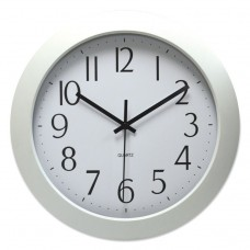 """DELUXE WHISPER QUIET CLOCK, 12"""", WHITE, 1 AA BATTERY"""
