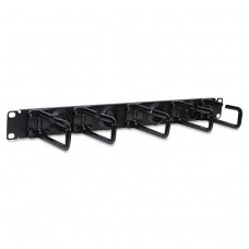Srcablering1u 1u Horizontal Cable Manager, Flexible Ring Type
