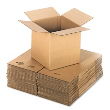 Brown Corrugated - Cubed Fixed-Depth Shipping Boxes, 12l X 12w X 12h, 25/bundle