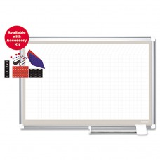 All Purpose Magnetic Planning Board, 1 X 2 Grid, 36 X 24, Aluminum Frame