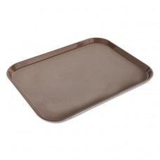 """Camcovers Serving Tray, Plastic, 13.75"""" X 17.75"""", Brown, Dozen"""