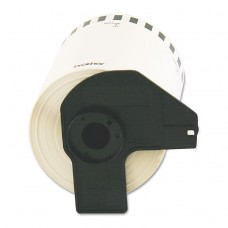 """Continuous Length Shipping Label Tape For Ql-1050, 4"""" X 100 Ft Roll, White"""