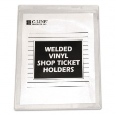 CLEAR VINYL SHOP TICKET HOLDER, BOTH SIDES CLEAR, 15 SHEETS, 8 1/2 X 11, 50/BX