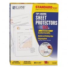 """Standard Weight Polypropylene Sheet Protector, Clear, 2"""", 11 X 8 1/2, 50/bx"""