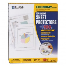 """Economy Weight Poly Sheet Protector, Reduced Glare, 2"""", 11 X 8 1/2, 100/bx"""