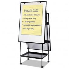 Creation Station Magnetic Dry Erase Board, 29 1/2 X 74 7/8, Black Frame