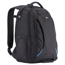 """15.6"""" CHECKPOINT FRIENDLY BACKPACK, 2.76"""" X 13.39"""" X 19.69"""", POLYESTER, BLACK"""