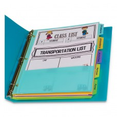"""5-TAB INDEX DIVIDERS WITH MULTI-POCKETS, 5-TAB, 11 1/2"""" X 10"""""""