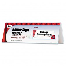 2-Sided Name/sign Holder, Blank, 11 X 3 1/2 X 4, Clear