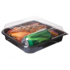 """100% Recycled Content 9"""" Premium Take Out Containers - 42oz., 50/pk, 3 Pk/ct"""