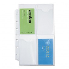 Business Card Holders For Looseleaf Planners, 5 1/2 X 8 1/2, 5/pack
