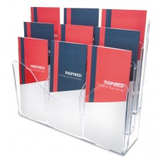 3-TIER DOCUMENT ORGANIZER W/6 REMOVABLE DIVIDERS, 13 3/8 X 3 1/2 X 11 1/2, WHITE