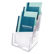 4-COMPARTMENT DOCUHOLDER, BOOKLET SIZE, 6 1/2 X 6 1/4 X 10, CLEAR