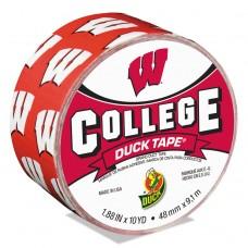 """College Ducktape, University Of Wisconsin Badgers, 1.88"""" X 10 Yds, 3"""" Core"""