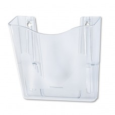 EURO-STYLE DOCUPOCKET PORTRAIT WALL FILE, 10 1/4 X 10 X 4, CLEAR