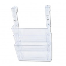 DOCUPOCKET THREE-POCKET FILE SET FOR PARTITION WALLS, LETTER, 13 X 7 X 4, CLEAR