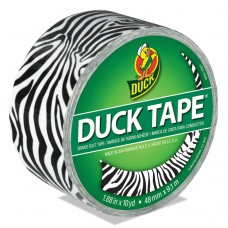 """Colored Duct Tape, 9 Mil, 1.88"""" X 10 Yds, 3"""" Core, Zebra"""