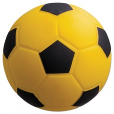Coated Foam Sport Ball, For Soccer, Playground Size, Yellow