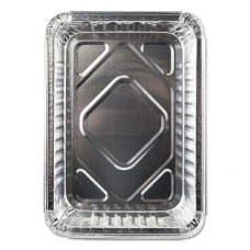 ALUMINUM CLOSEABLE CONTAINERS, 6 1/8W X 1 9/16D X 8 11/16H, SILVER, 500/CARTON