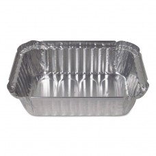 ALUMINUM PAN CLOSEABLE CONTAINERS, 5 1/8W X 1 15/16D X 7 1/16H, SILVER, 500/CT
